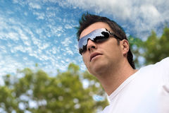 Man looks at the future Stock Photography