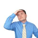 The man looks up Stock Photos