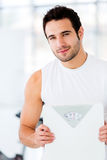 Man loosing weight Royalty Free Stock Photos