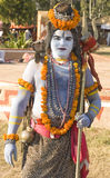 A man in Lord Shiva getup Royalty Free Stock Image