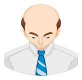 Man lossing hair diagram Stock Photo