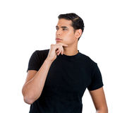 Man lost in serious thoughts Royalty Free Stock Image