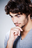 Man lost in thought Stock Photo