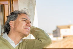 Man lost in thoughts Royalty Free Stock Photo