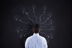 Man with lots of creativity Royalty Free Stock Photo