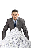 Man with lots of  paper Royalty Free Stock Photography