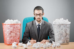 Man with lots of  paper Royalty Free Stock Photos