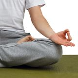 Man in lotus pose. Stock Images