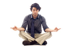 Man in Lotus Position Stock Photos