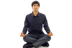 Man in Lotus Position Royalty Free Stock Photos