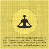 A man in the lotus position on a textural background. yoga icon Stock Images