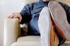Man lounging Royalty Free Stock Photos