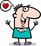 Man in love cartoon illustration Stock Image