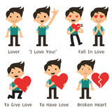 Man with love Stock Images