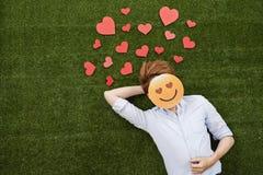 Man in love Stock Image