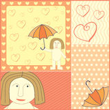 Man in love illustration Stock Image