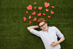 Man in love Royalty Free Stock Photography