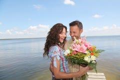 When a man loves a woman Stock Photo