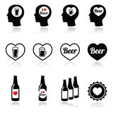 Man loving beer vector icons set Stock Image