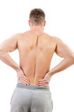 Man with lower back pain Stock Photography