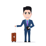 Man with luggage bag Stock Images