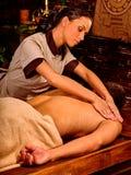 Man luxuriate  Ayurvedic spa treatment Stock Photography