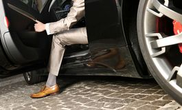Man luxury hand made shoes. Still life - made in italy royalty free stock photos
