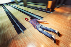 Man lying on the floor Royalty Free Stock Images