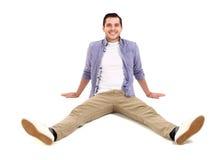 Man lying on floor Stock Image