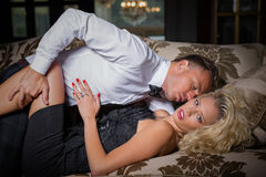 Man lying on top of woman Royalty Free Stock Photos