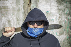 Man with a machete Royalty Free Stock Photography