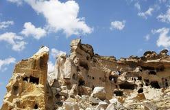 Man Made Caves Former Mans Habitat Roman Times Stock Image