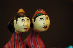 Man made Dolls. Dolls status in the market royalty free stock photos