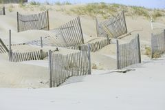 Man made dunes Stock Photo