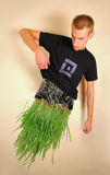 Man made of Grass royalty free stock images