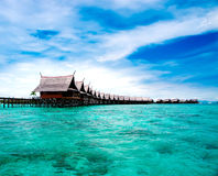 A man-made Kapalai island Royalty Free Stock Photography