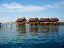 A man-made Kapalai island exotic resort Stock Image