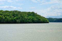 Man-made lake shoreline Royalty Free Stock Photography