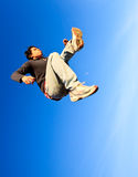 A man made a powerful high jump Royalty Free Stock Photography