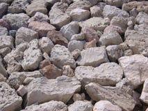 Man-made Rock Break-Water royalty free stock image