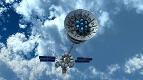 Man-made satellite Royalty Free Stock Photo