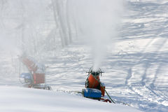 Man Made Snow Machines Royalty Free Stock Photography