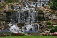 Man made Waterfall. Mountains SC Royalty Free Stock Images