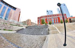 Man Made Waterfall at Downtown Fort Worth Texas Stock Image