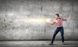 Man magician Stock Images