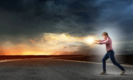 Man magician Stock Photo