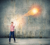 Man magician Stock Photos