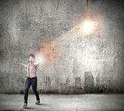 Man magician Royalty Free Stock Photography