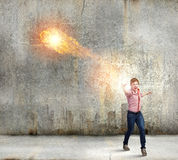 Man magician Royalty Free Stock Photos