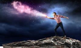 Man magician Stock Photography